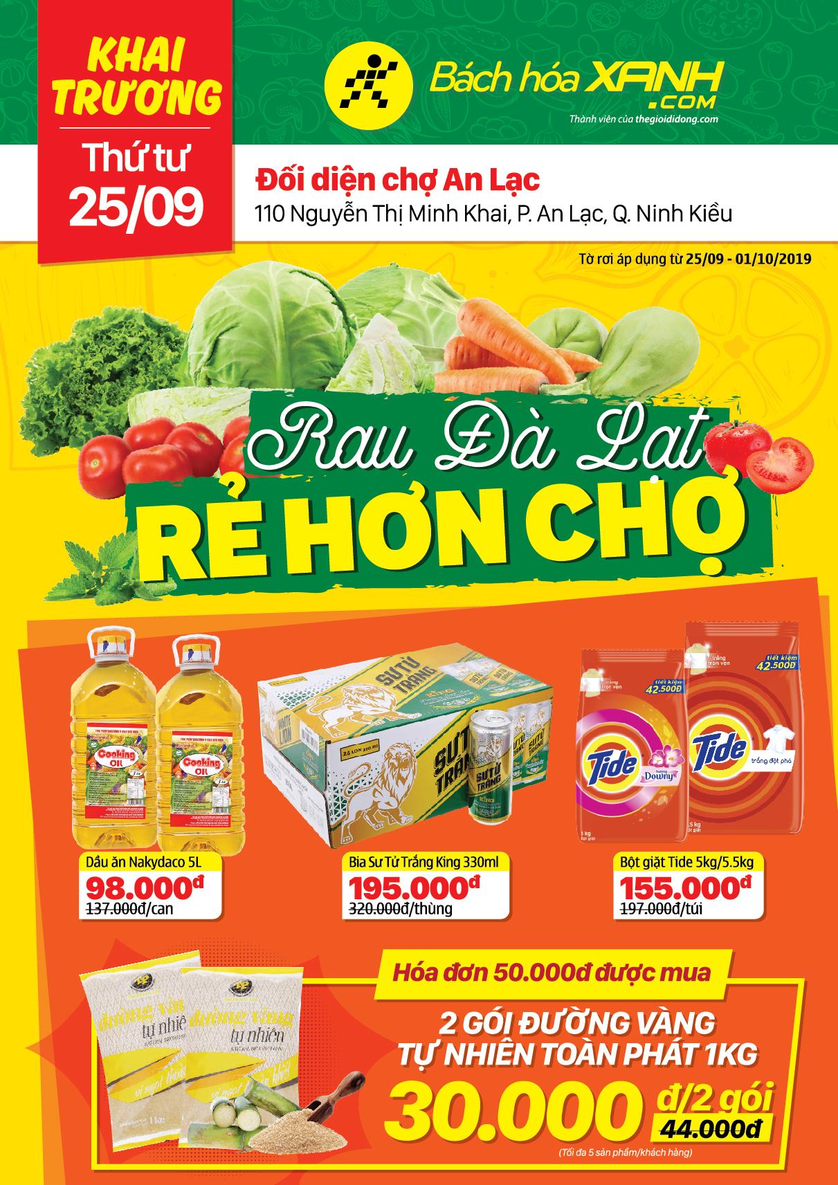 Cửa hàng Bách hoá XANH 110 Nguyễn Thị Minh Khai khai trương 25/9/2019