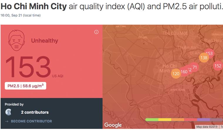 Hồ Chí Minh bầu trời xuất hiện màu trắng đục, báo động ô nhiễm không khí