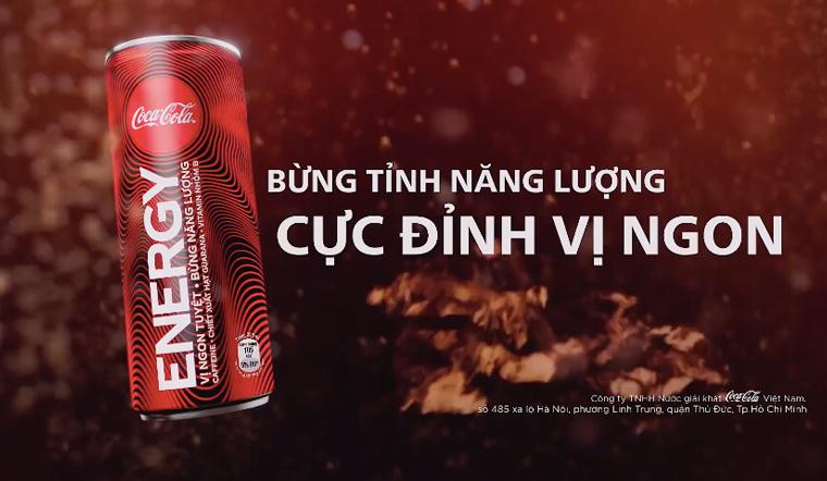 Nước tăng lực thế hệ mới Coca Cola Energy, mới lạ từ thiết kế đến hương vị