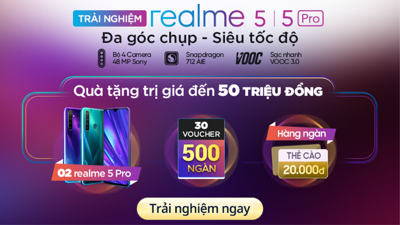 Chơi game Realme 5, Realme 5 Pro