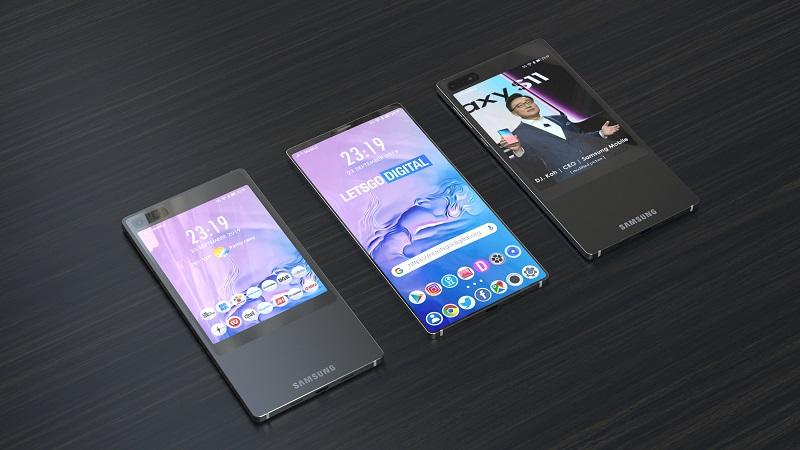 Đây là chiếc BlackBerry KEY 2 màn hình kép của... Samsung thiếu bàn phím QWERTY