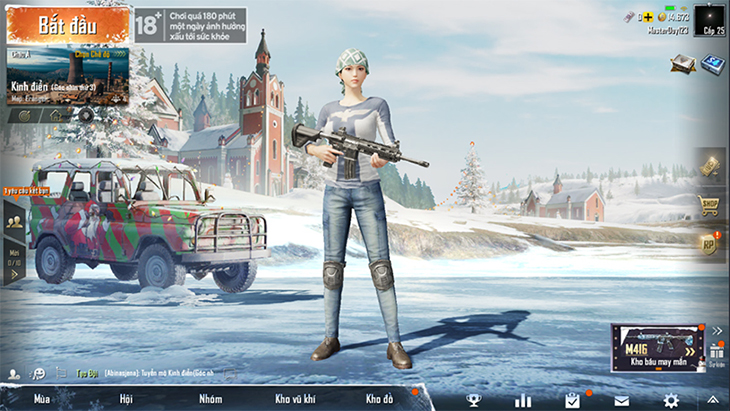 Giao diện Pubg Mobile Tencent Tiếng Việt