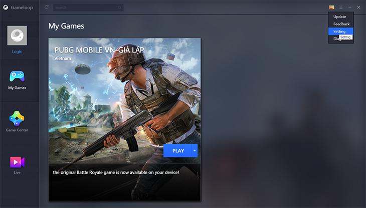 Thiết lập cấu hình chơi PUBG Mobile trên Tencent Gaming Buddy