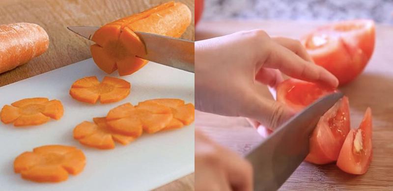 Cách làm nước ép cà rốt cà chua giúp đẹp da, sáng mắt