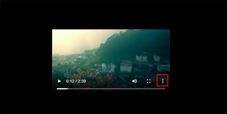 Chon dấu 3 chấm ở cuối video