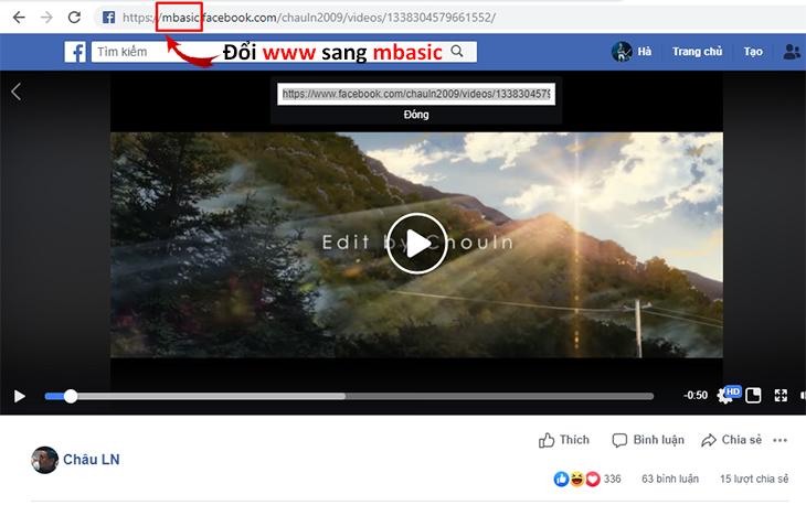Đổi tên miền video từ WWW sang MBASIC > Click