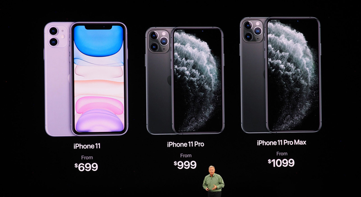Màn hình trên iPhone 11, iPhone 11 Pro, iPhone 11 Pro Max