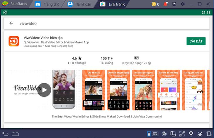Cài đặt VivaVideo