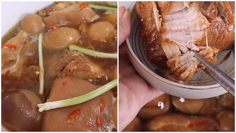 Hoàn thành thịt kho nước dừa
