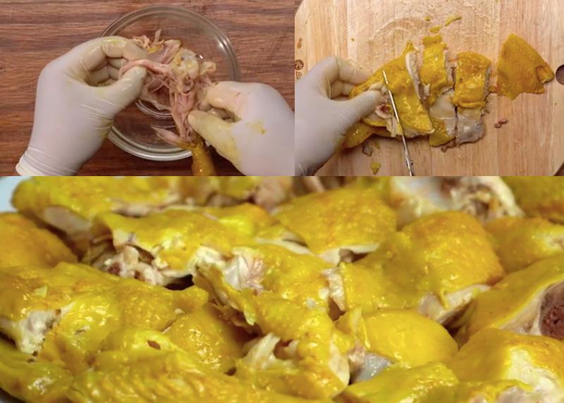 Cách làm cơm gà, hạt cơm dẻo thơm, thịt gà thì mềm ngọt, da giòn
