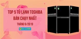 Top 5 tủ lạnh Toshiba bán chạy nhất Điện máy XANH tháng 09/2019