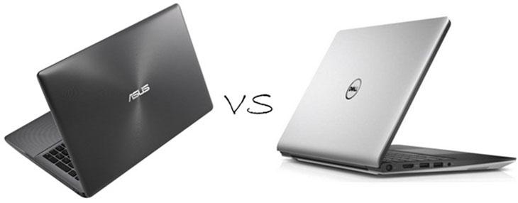 Thiết kế giữa ASUS và Dell
