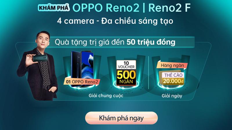 Game khám phá OPPO Reno2, Reno2 F