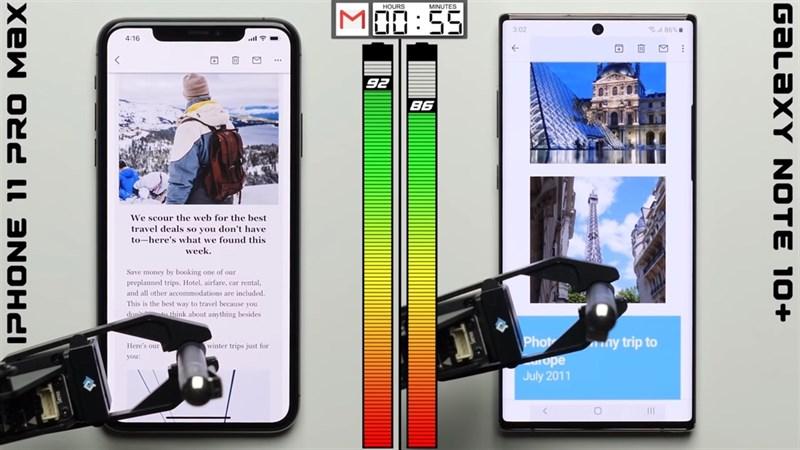 """So sánh thời lượng pin iPhone 11 Pro Max và Galaxy Note 10+: Ai sẽ """"lên đỉnh""""?"""