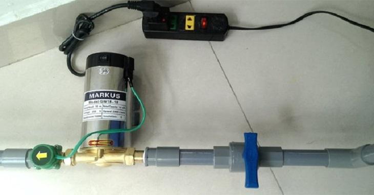 Dùng trực tiếp nước đường ống, hoặc lấy nước từ bể ngầm