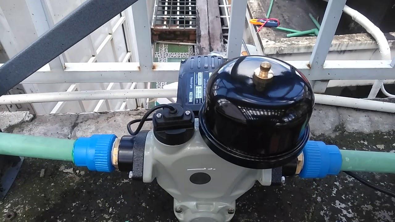 Sử dụng máy bơm tăng áp chịu nhiệt cho máy nước nóng năng lượng mặt trời
