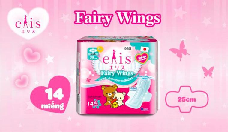 Băng vệ sinh Elis Fairy Wings chất lượng Nhật được nhiều chị em tin dùng
