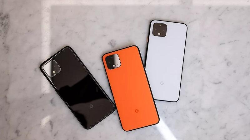 Ba tùy chọn màu sắc trên Pixel 4 và Pixel 4 XL