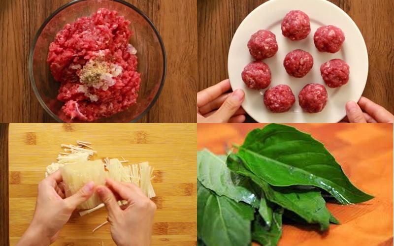Cách nấu canh nấm kim châm thịt bò, ăn no bụng cùng cơm nóng