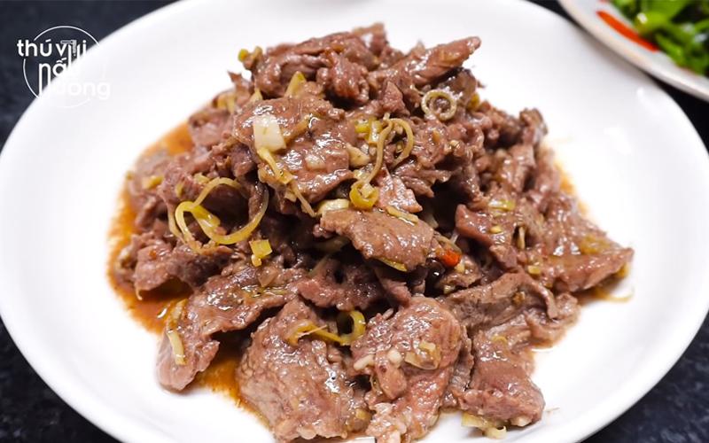Cách làm bò xào sả ớt cay nồng, ngon khó cưỡng