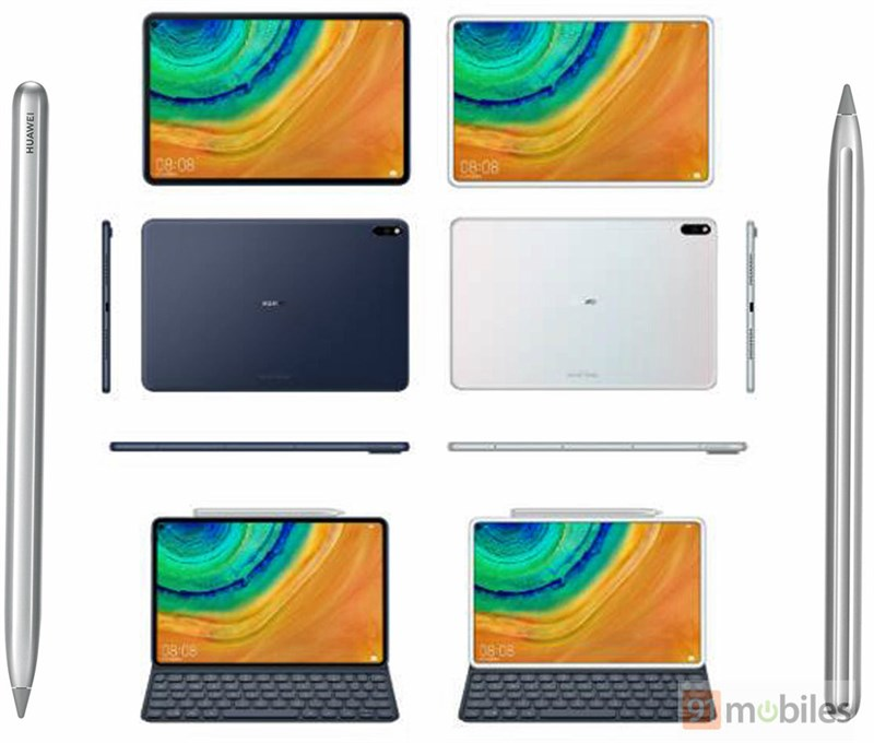 Huawei MediaPad M7 lộ ảnh render mọi góc cạnh, hỗ trợ bút stylus - ảnh 2