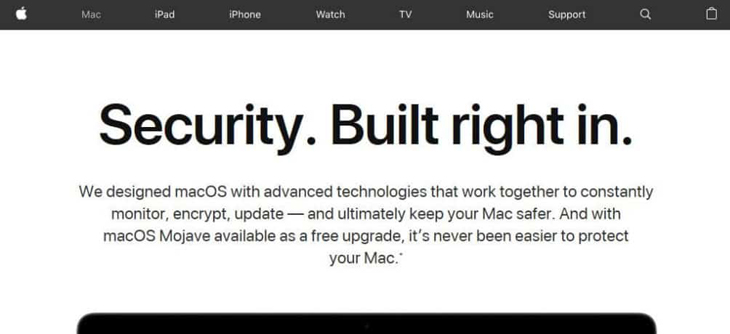 Hệ thống bảo mật MacBook