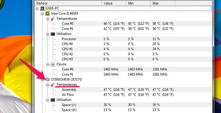 Nhiệt độ ổ cứng HDD, SSD bao nhiêu