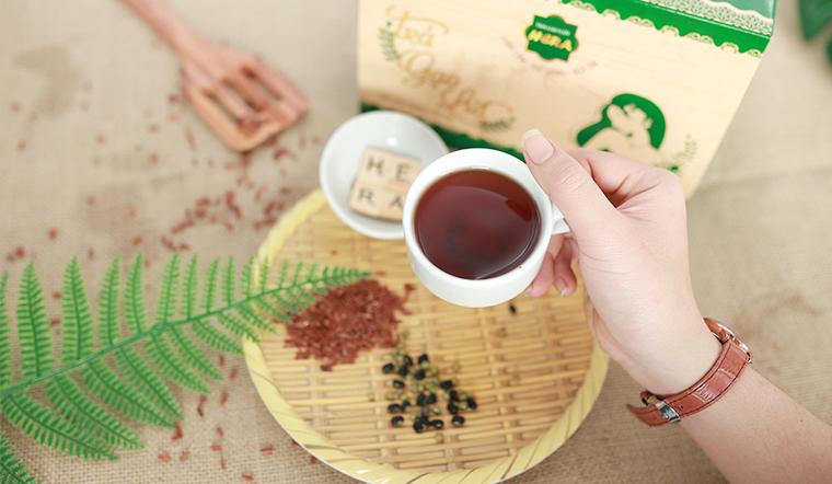 Bụng phẳng lì, đánh tan mỡ nhờ uống trà gạo lứt mỗi ngày