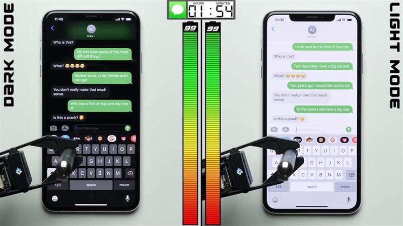 iPhone với màn hình OLED được cải thiện thời lượng pin tới 30% khi dùng chế độ Dark Mode