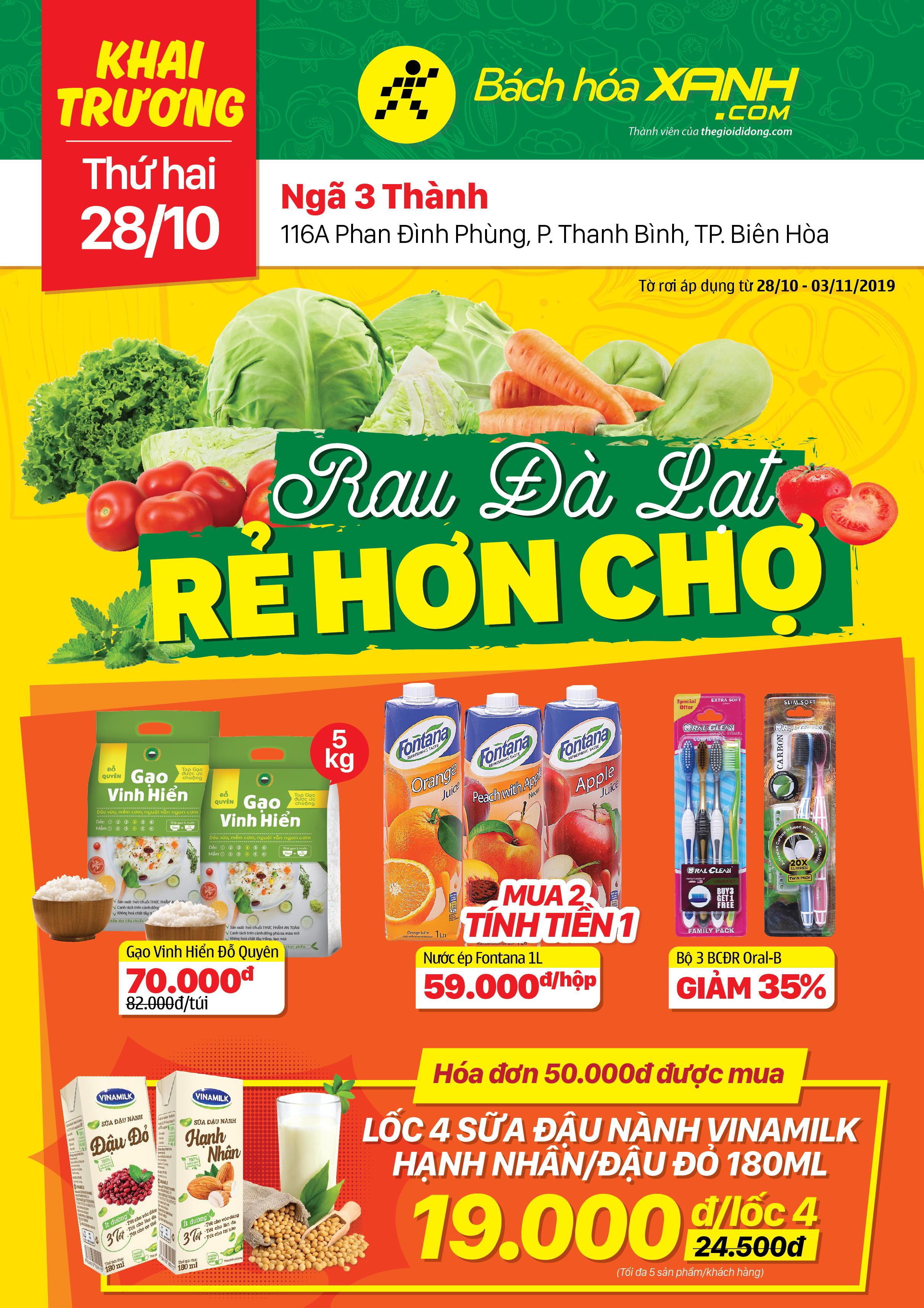 Cửa hàng Bách hoá XANH 116A Phan Đình Phùng khai trương 28/10/2019