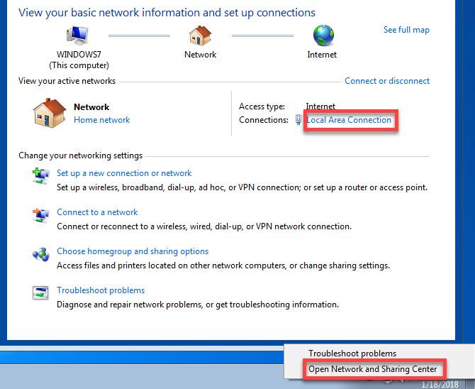 Kiểm tra lại địa chỉ IP của máy tính
