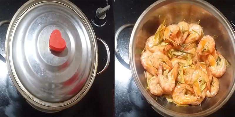 Cách làm tôm hấp sả thơm nứt mũi, thịt ngon ngọt