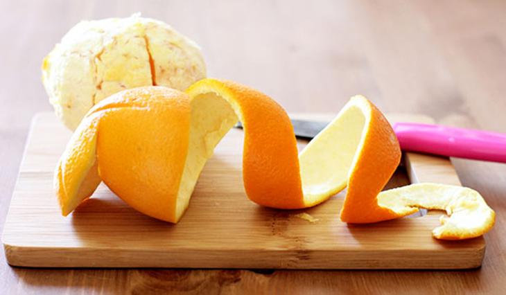 Sử dụng vỏ cam