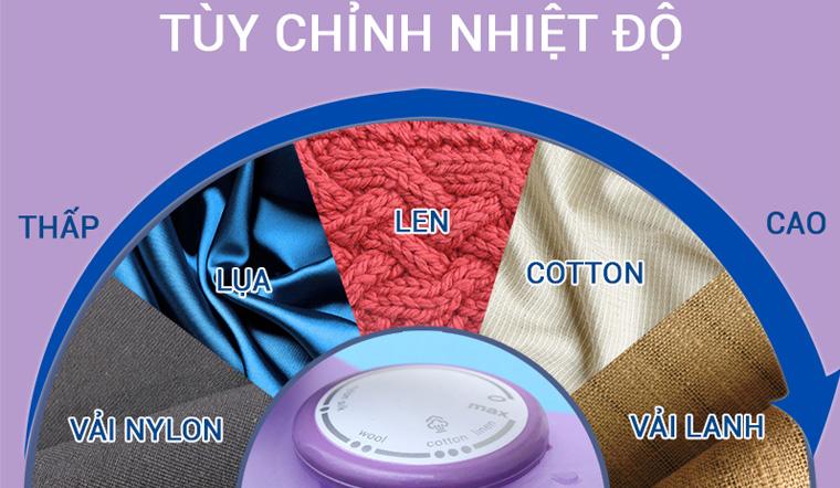 Cách điều chỉnh nhiệt độ ủi đồ phù hợp với từng chất liệu vải