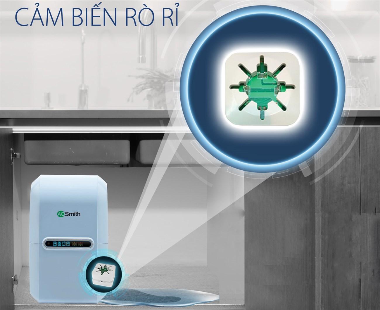 Máy lọc nước thông minh có van cảnh báo rò rỉ nước