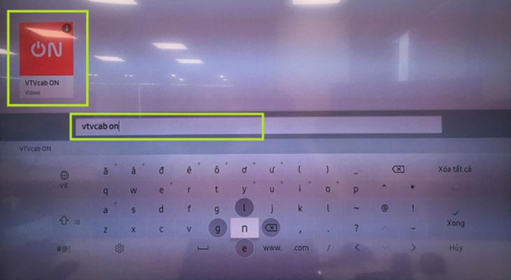 Tìm ứng dụng VTVcab ON trên tivi Samsung