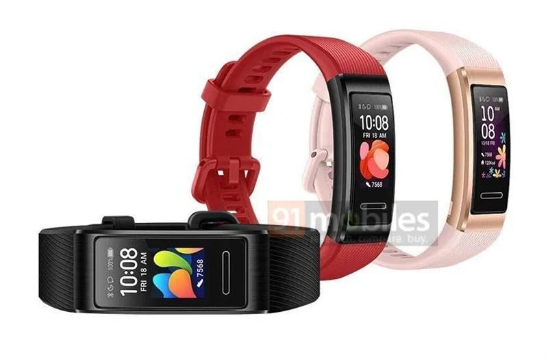 Vòng đeo thông minh Huawei Band 4 Pro lộ ảnh render với nhiều màu sắc cuốn hút