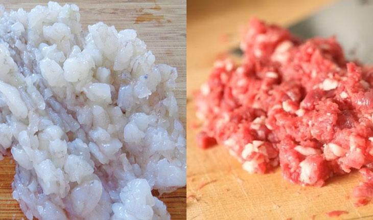 Bước 1 Sơ chế nguyên liệu Củ cải cuốn tôm thịt