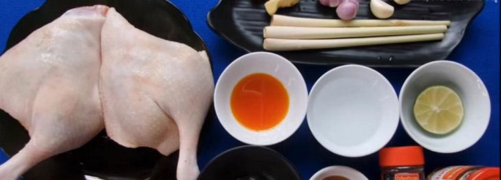 Nguyên liệu món ăn 3 món vịt nướng sa tế, riềng mẻ, muối ớt