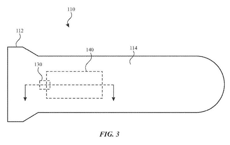 Ảnh phác thảo bằng sáng chế tích hợp ăng-ten vào dây đeo của Apple