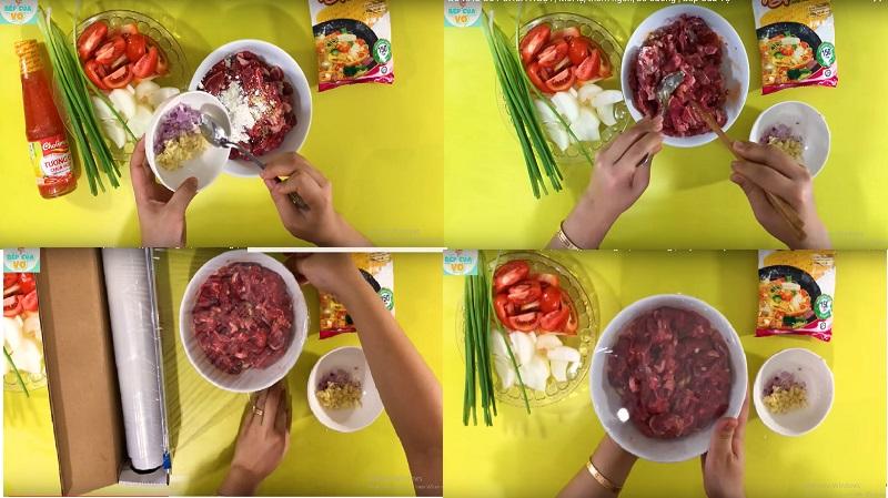 Chỉ 15 phút có ngay món thịt bò xào cà chua thơm ngon, bổ dưỡng