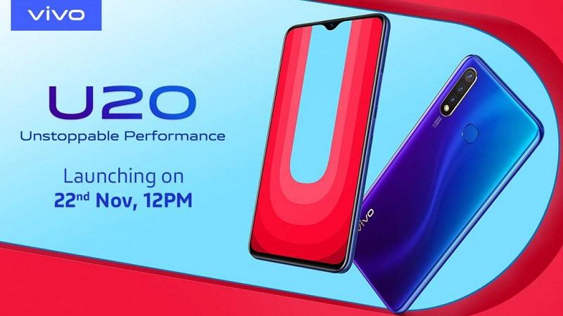 Vivo U20 sẽ ra mắt vào ngày 22/11 với màn hình giọt nước, chip Snapdragon 675, ba camera