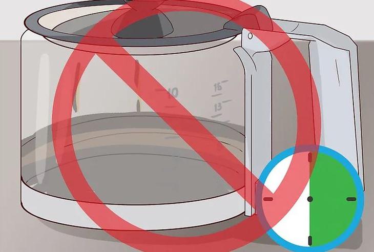 Đừng để lại cà phê trong bình (ấm đun) quá 30 phút