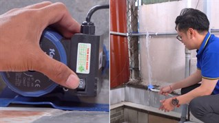 Cách lắp đặt máy bơm nước tăng áp hỗ trợ máy giặt cho nhà có nguồn nước yếu