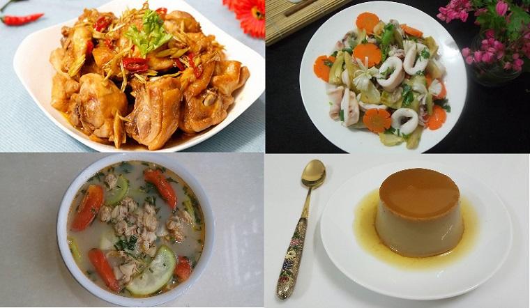Mâm cơm cuối tuần món nào cũng dễ ăn và ai nhìn cũng thích