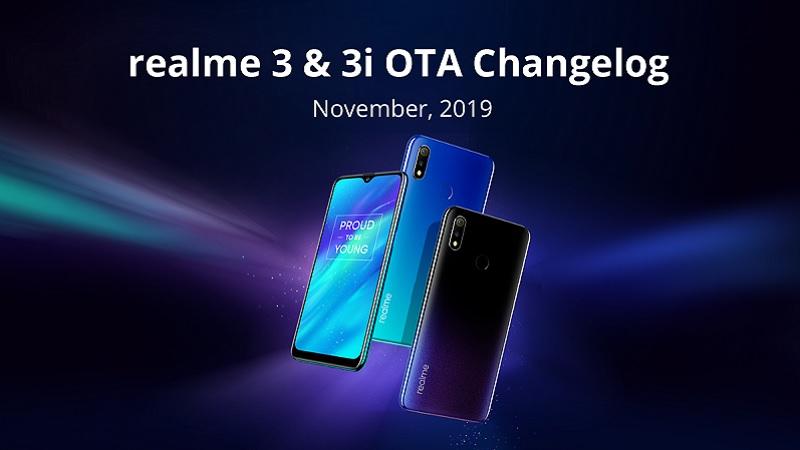 Realme 3 và 3i nhận bản vá bảo mật tháng 11/2019, bổ sung chế độ tối và nhiều tính năng mới