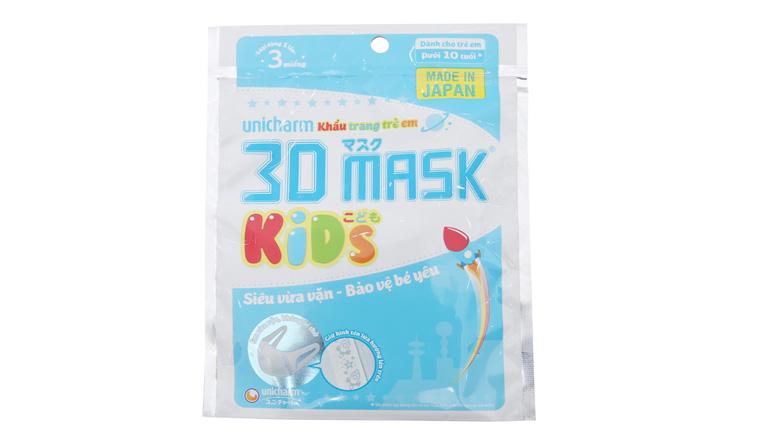 Không khí ô nhiễm, ba mẹ đừng quên chọn mua khẩu trang Unicharm 3D Mask Kid cho con của mình