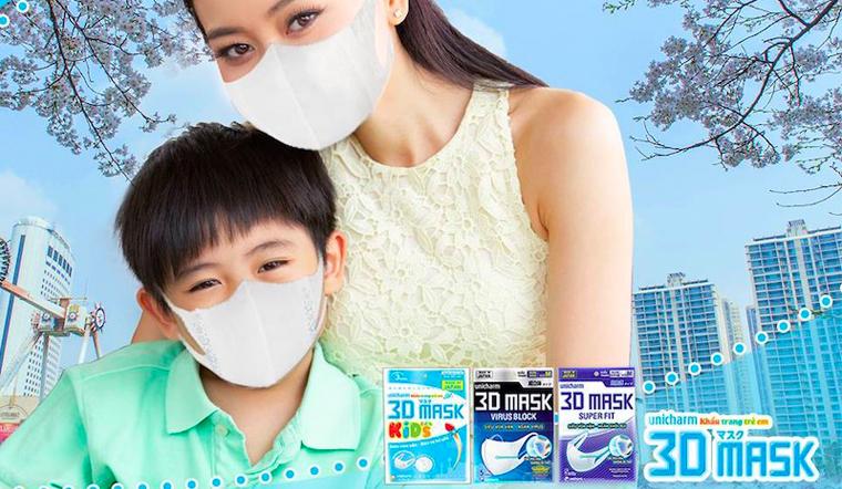 Mua khẩu trang Unicharm 3D Mask Kid cho con của mình