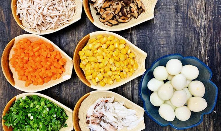 Nguyên liệu món ăn súp thập cẩm