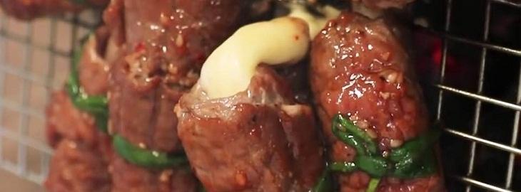Bước 3 Nướng thịt bò Bò nướng cuộn phô mai